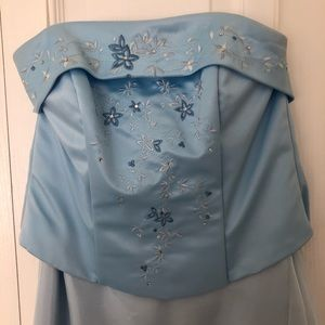 Juniors formal gown, light blue, size small